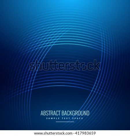 blue background with shiny curve lines