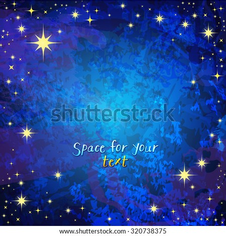 blue background with stars - stock vector