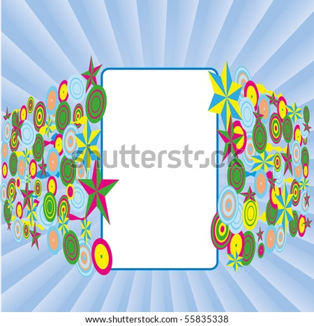 Blue background with stars background.  Vector illustration. - stock vector