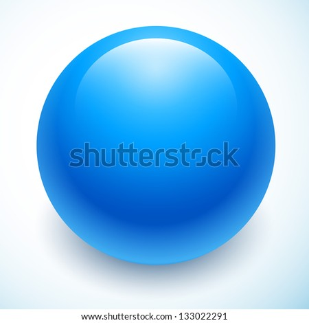 blue ball isolated - stock vector