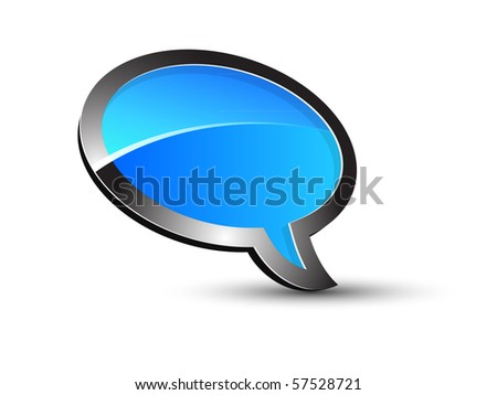 Blue Balloon conversation - stock vector