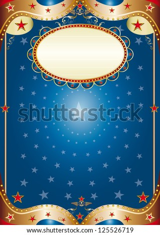 Blue baroque frame. A blue poster for your party. - stock vector