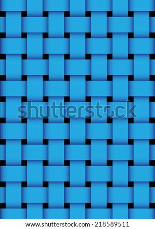 Blue basket weave texture background. vector illustration - stock vector