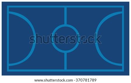 Blue Basketball Court Background - stock vector