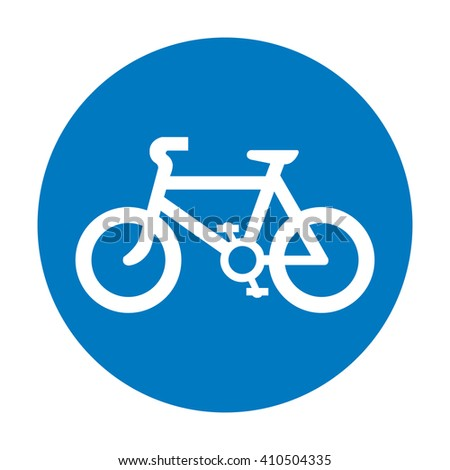 Blue Bicycle Icon Vector - stock vector