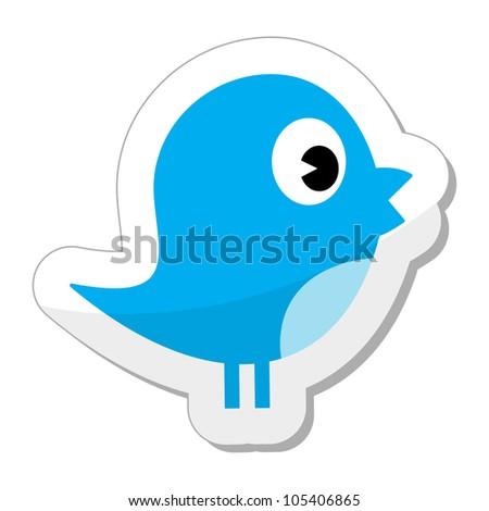 Blue bird - stock vector