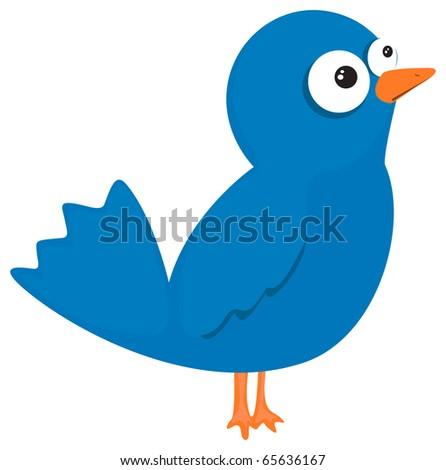 Blue bird - stock vector