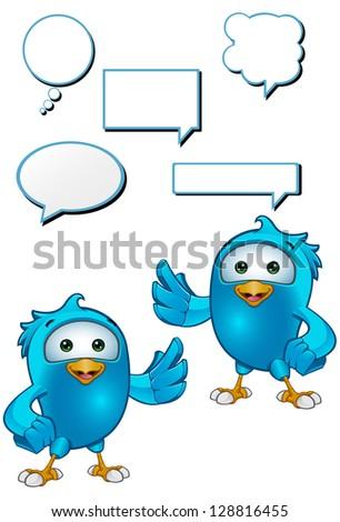 Blue Bird - Presenting - stock vector