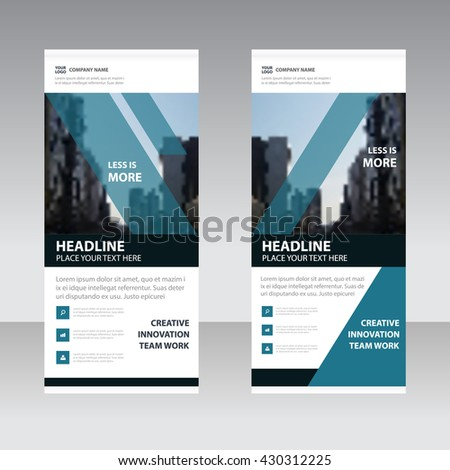 Blue black corporate elegance Business Roll Up Banner flat design template ,Abstract Geometric banner template Vector illustration set, abstract presentation template - stock vector