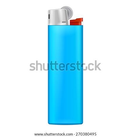 Blue Cigarette Lighter Blue Blank Cigarette Lighter