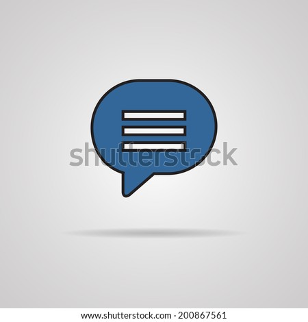 Blue blank map pin icon web button. - stock vector