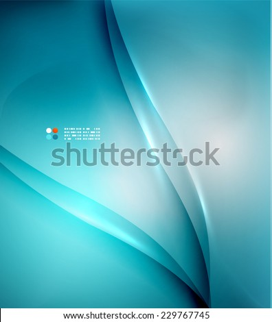 Blue blurred colors business or technology abstract background - stock vector