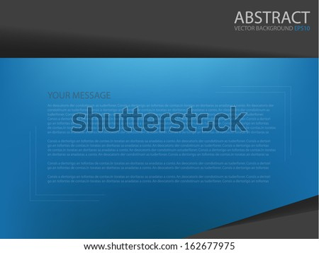 blue board background vector document for text and message design for brochure and web modern artwork
