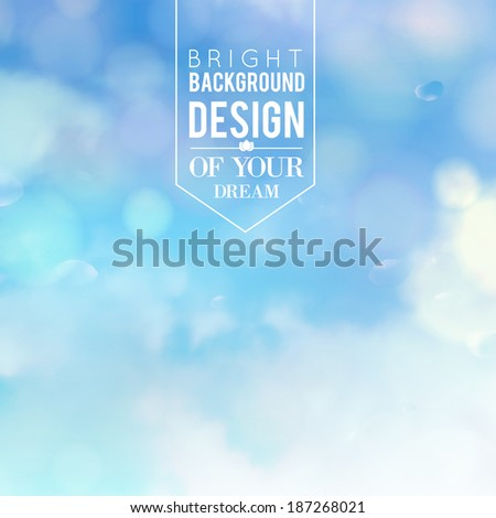 Blue bokeh abstract light background. Vector illustartion. - stock vector