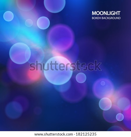 blue bokeh background - stock vector