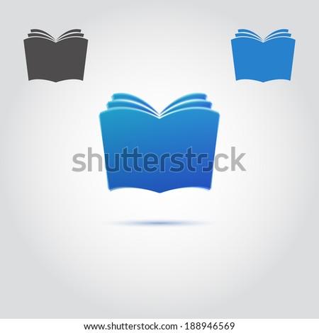 Blue book vector icon - stock vector