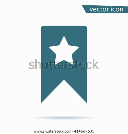 Blue Bookmark icon isolated on background. Modern flat pictogram, business, marketing, internet concept. Trendy Simple vector symbol for web site design or button to mobile app. Logo illustration  - stock vector