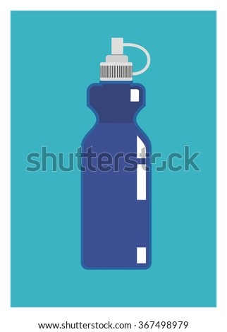blue bottle/water container - stock vector