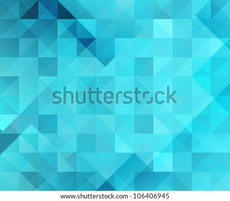 blue bright abstract triangles background - stock vector