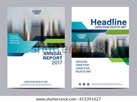 blue brochure layout design template annual report flyer leaflet cover presentation modern background illustration