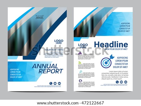 Blue Brochure Layout Design Template Annual Stock Vector Hd Royalty