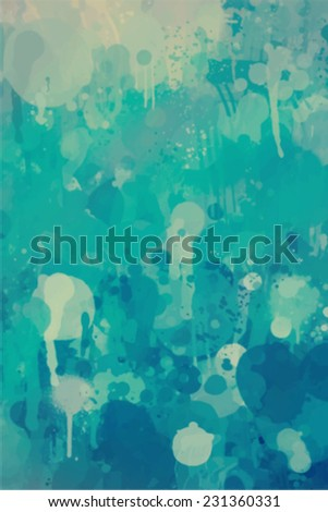 Blue brush stroke paint. Abstract illustration. - stock vector