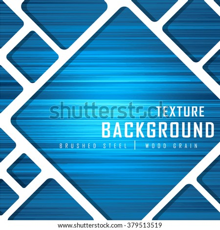 Blue Brushed Metal Wood Grain Texture Background Graphic Design Vector Illustration EPS10  - stock vector