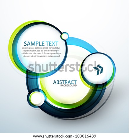 Blue bubble abstract banner - stock vector