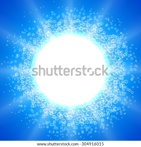 Blue Bubble Theme with place for your text - stock vector
