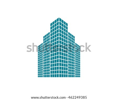 blue building icon