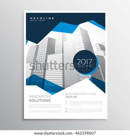 Blue business annual report brochure template stock photo photo blue business annual report brochure template presentation flashek Choice Image