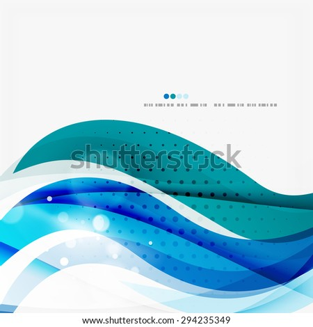 Blue business corporate professional wave line background