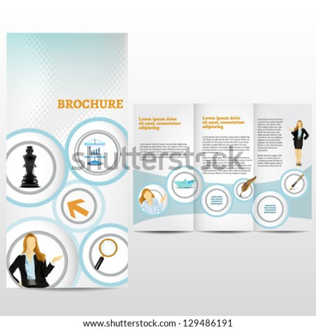 Blue business template - stock vector