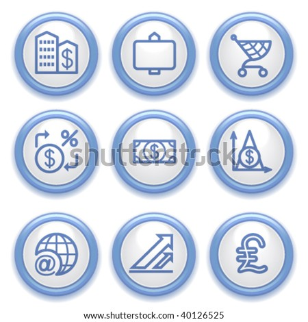 Blue button for web 23 - stock vector