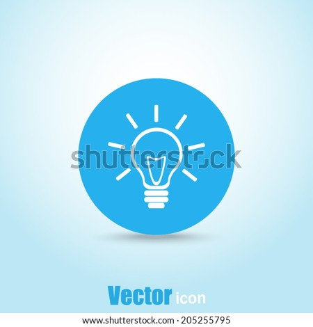 Blue button vector icon - stock vector