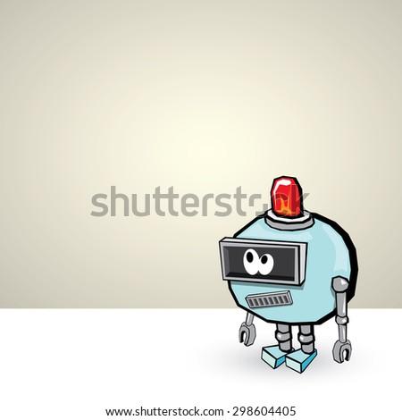blue Cartoon 3d Robot - stock vector
