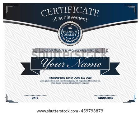Certificate template vector illustration frame stock vector blue certificate diploma template vector illustration design yadclub Image collections