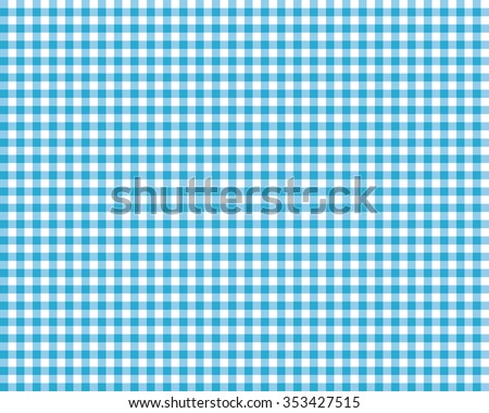 blue checkered picnic tablecloth