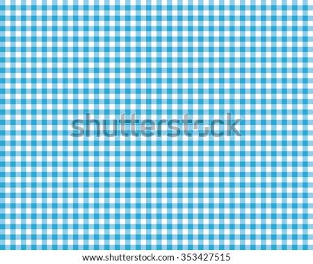 blue checkered picnic tablecloth - stock vector