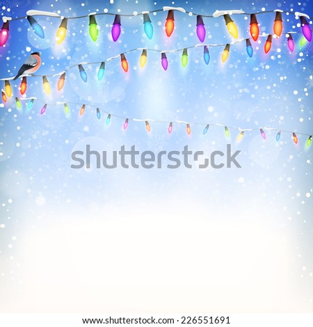 Blue Christmas background. EPS 10 vector file included - stock vector