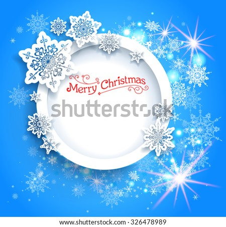 Blue Christmas background for design card, banner, leaflet and so on. - stock vector