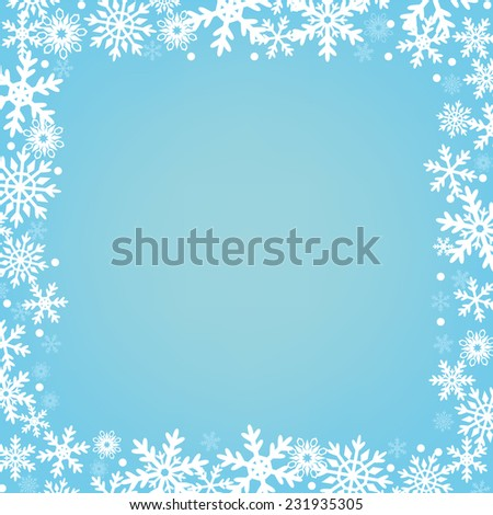 Blue Christmas background with snowflakes - stock vector