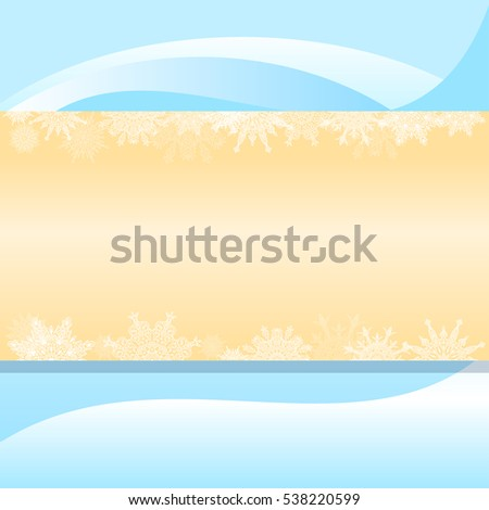 Blue Christmas background with snowflakes and monograms clean orange middle