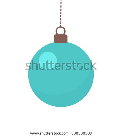 Blue Christmas bauble. Vector illustration - stock vector
