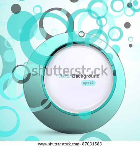 Blue circle background, vector - stock vector