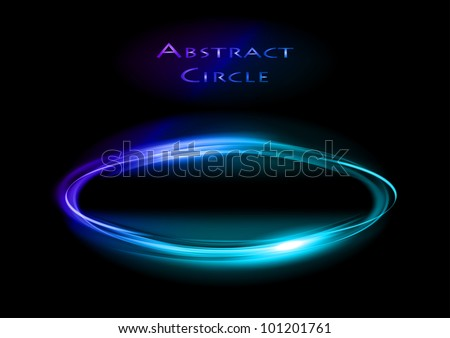 blue circle on the dark background - stock vector
