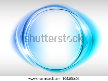 blue circle on the light background - stock vector