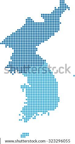 Korea Map Stock Images RoyaltyFree Images Vectors Shutterstock - Korea map