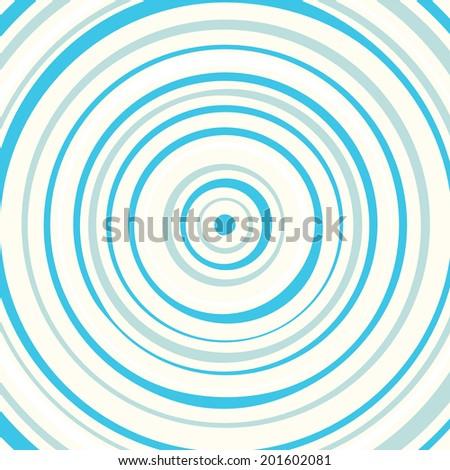 Blue circles background pattern illustration - stock vector