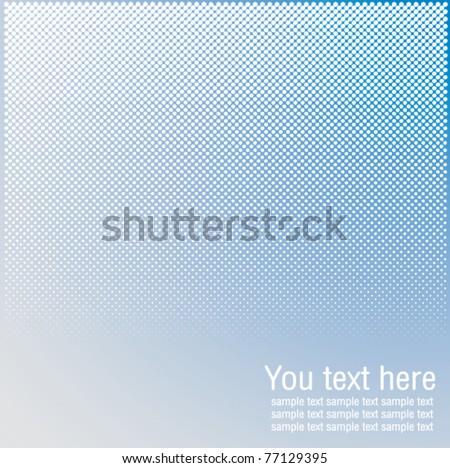 blue Color Halftones background - stock vector